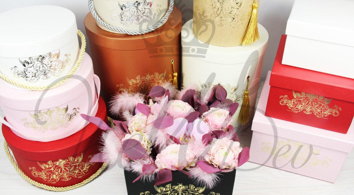 Boîtes pour fleurs avec les Anges