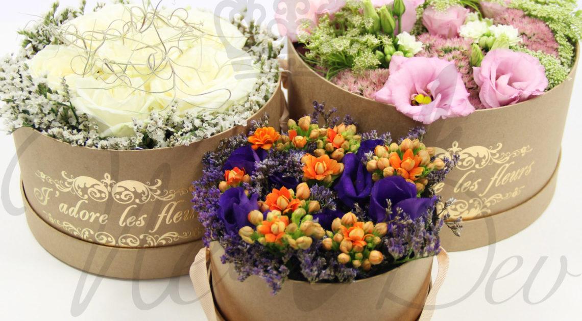 Boîtes pour fleurs, papier kraft