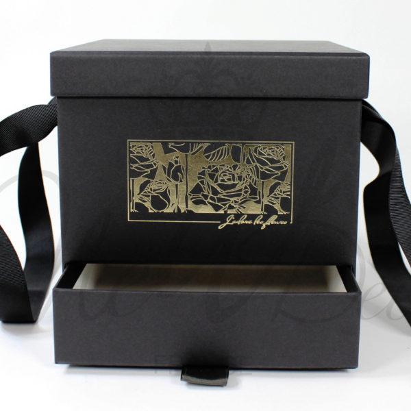 Boîte avec tiroir pour fleurs, macarons, bonbons, bijoux