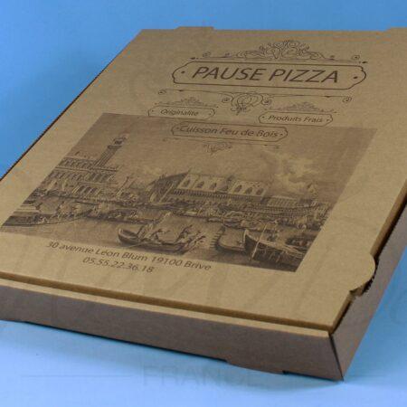 Boîte à pizza personnalisée